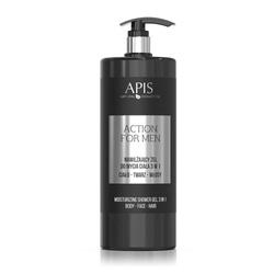 APIS Action for Men nawilżający żel do mycia ciała 3W1 1000ml