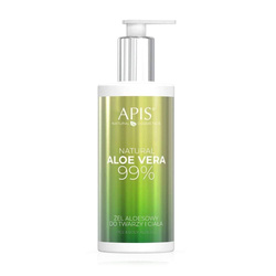 APIS Natural Aloe Vera żel aloesowy do twarzy i ciała 300ml