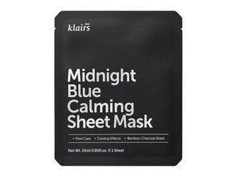 KLAIRS Midnight Blue Calming Sheet Mask łagodząco-chłodząca maseczka w płacie