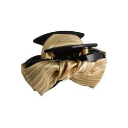Klamra do włosów kokarda zeberka (beż)